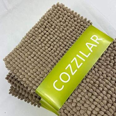 Imagem de Tapete de Banheiro Antiderrapante Bolinha Microfibra 65x45 cm Cor:Marrom Cáqui