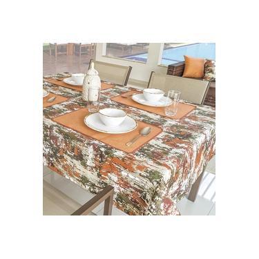 Imagem de Toalha De Mesa 6 Cadeiras mpermeável 1,40x2,00m Laranja