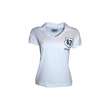Camisa Liga Retrô Pepe 1963 Feminina (Ex-jogador do Santos e Brasil)