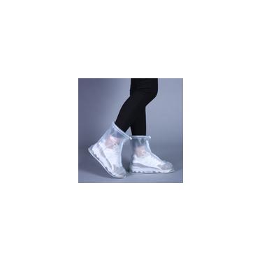 Imagem de Sapatos femininos femininos impermeáveis sapatos espessos botas protetoras chuva