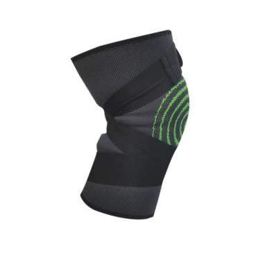 Imagem de Joelheira Elastica 3D Bandagem Compressão Exercício Joelhos Estabilida