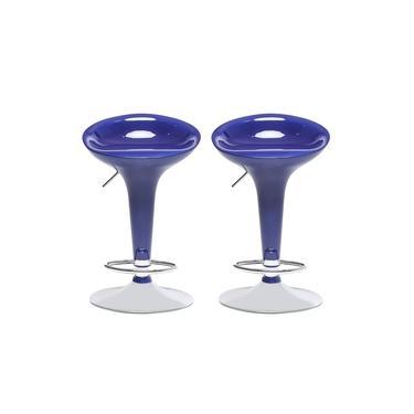 Conjunto 2 Banquetas Giratórias em ABS Azul Travel Max