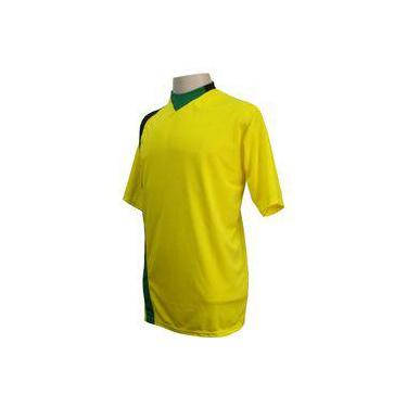 9e3f27632b Uniforme Esportivo Completo modelo PSG 14+1 (14 camisas Amarelo Preto Verde