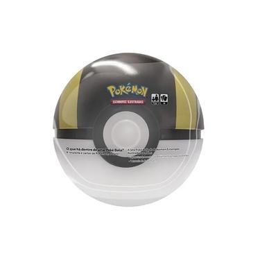 Imagem de Pokemon Lata Pokebola - Super Poké Bola Ultra Ball Preta e Dourado *