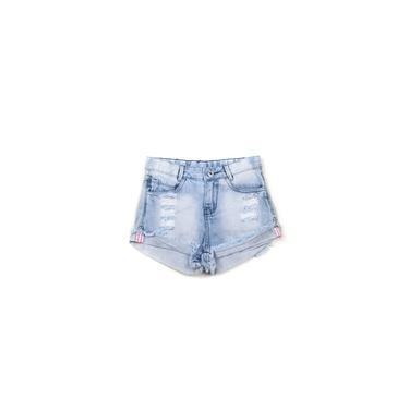 Short Jeans Infantil Menina Destroyed