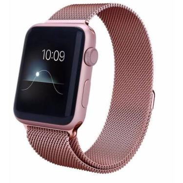 Pulseira Milanese Para Apple Watch Series 1 2 3 4 44mm Rosê