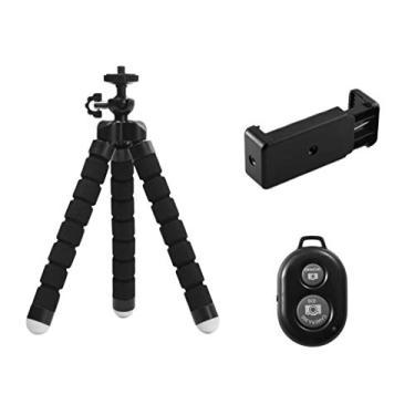 Homyl Suporte De Tripé De Telefone Portátil Com Suporte De Celular Ajustável Remoto Para Bluetooth