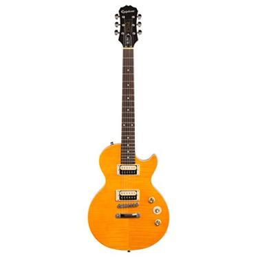 Imagem de Guitarra Epiphone Les Paul Special Slash AFD Signature Amber, com Bag + Palhetas Cabo e Correia