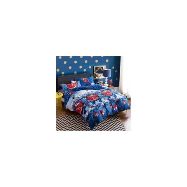 Imagem de Dyq 4 Pcs 3D Jogo de Cama Presente de Natal Papai Noel Azul Queen Size Edredon Covers Roupa de Cama Fronhas Conjuntos de Roupa de Cama