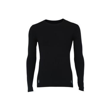 b9c8cc8e9e425 Camisa Térmica Segunda Pele Manga Longa Lupo Under Warm - Masculina - PRETO  Lupo