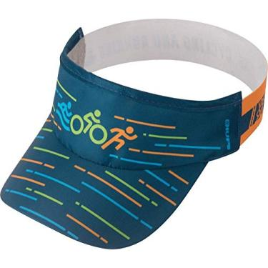 Viseira para Corrida Hupi Triathlon, Cor: Azul, Tamanho: Único