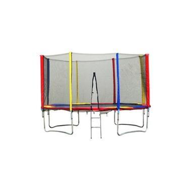 Imagem de Cama Elástica (Pula-Pula) 3,66m com Rede de Segurança e Escada