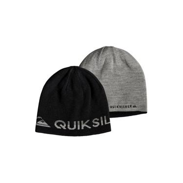 Gorro Quiksilver Dupla Face Out Of Bounds Preto/Cinza