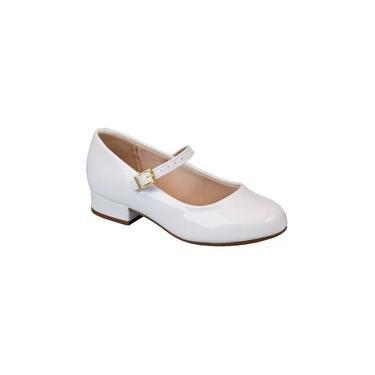 Sapato Social Infantil Fashion Molekinha Branco 2528101
