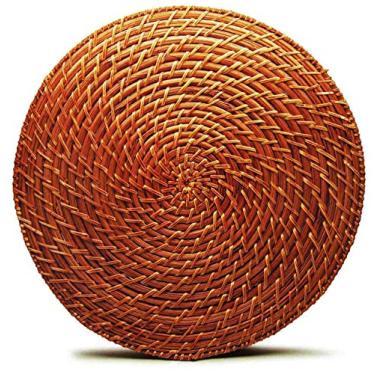 Imagem de Jogo Americano Redondo de Rattan (06 peças) - Tyft Organic 34cm, YOI, 8108510010