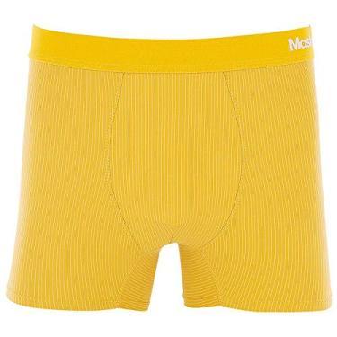 Imagem de Cueca Boxer Microfibra Risca de Giz Amarelo escuro P