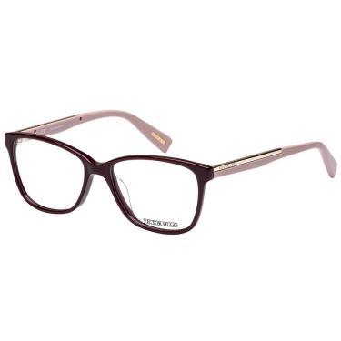 9e981edd8e6 Óculos de Grau Victor Hugo VH1736 9FH 53 Bordô Rose
