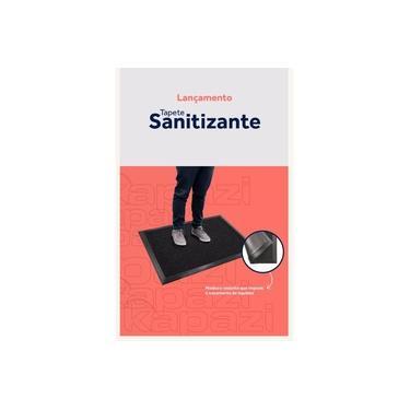 Tapete Sanitizante - Proteção Contra Vírus e Bactérias - Tam. 60x40 - Cor Preta