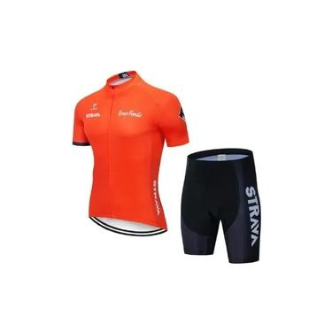 Roupa Bike Ciclismo Strava Camisa Bretelle Ou Bermuda Gel