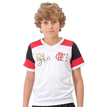 Camisa Braziline Flamengo Zico Retrô Infantil