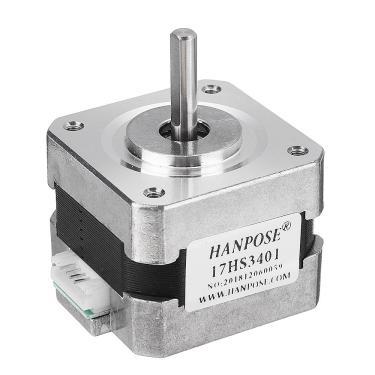 HANPOSE17HS340134mmNema17Motor de Passo 42 Motor 42BYGH 1.3A 28N.cm 4-lead para Impressora 3D CNC Banggood