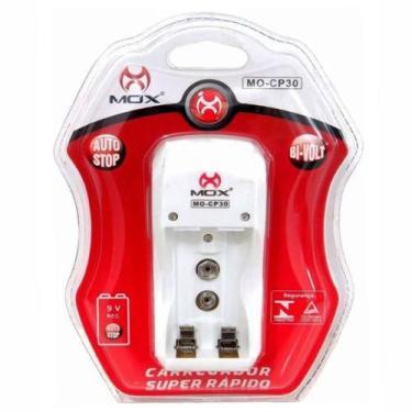 Imagem de Carregador De Pilhas Mox Aa Aaa E Baterias 9V Desligamento Automático