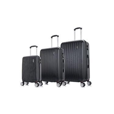 Conjunto de malas de viagem P, M e G Londres Plus Swiss Move Preta