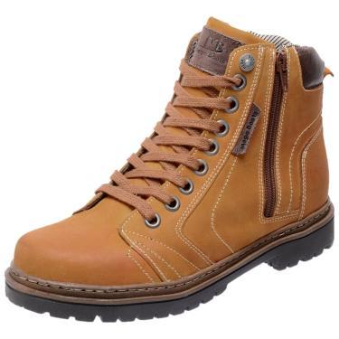 Bota Coturno em Couro Mega Boots 6015 Amarelo  masculino