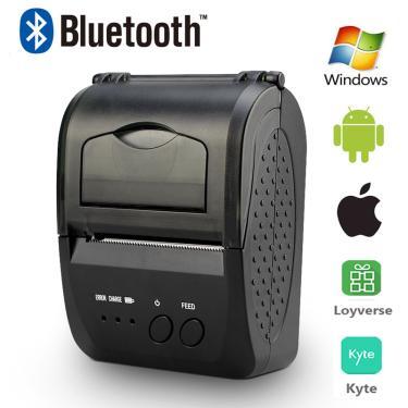 Imagem de Mini impressora térmica portátil bolso, impressora de recibos bluetooth sem fio de 58mm pos para