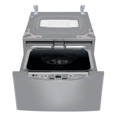 Imagem de Máquina De Lavar Automática LG Twinwash Mini Wd2100 Inverter Aço Escovado 2kg 220v