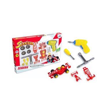 Imagem de Brinquedo Carro Senninha Scuderia Carrinho F1 c/ Acessórios para Montar e se Divertir, Paki Toys 2032 - 143868
