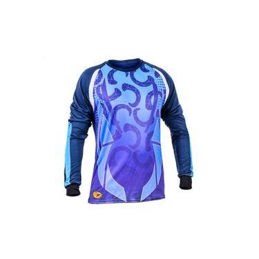 Camisa De Goleiro Poker Sublimax Maier - Azul