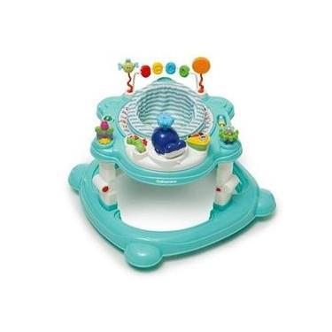 Andador Para Bebê Infantil 4 Em 1 Funny Verde Água Galzerano 4030VDA
