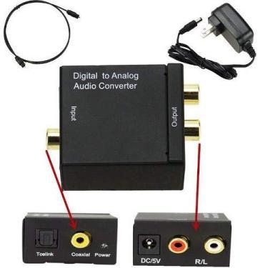 Conversor De Audio Digital Óptico Para Rca Analógico