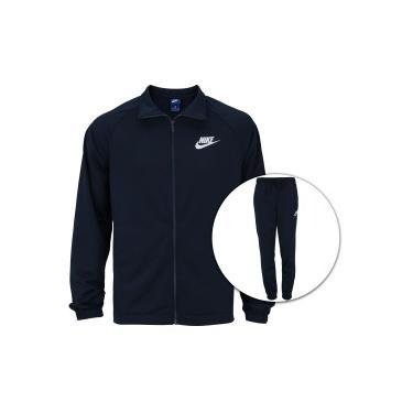 Agasalho Nike Sportswear Track Suit PK Basic - Masculino - AZUL ESC BRANCO  Nike 3559a4fd97093