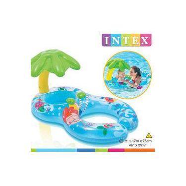 Boia Infantil Baby Bote Peixinhos Com Cobertura 8152-3 Intex