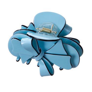 Presilha de acrílico com laço único crisy Azul claro