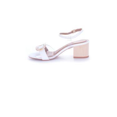 Sandália Salto Grosso L'Atelier Napa Branco  feminino