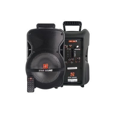 Caixa De Som C/ Bateria 5hr Bluetooth e Microfone - Star Sound Ss80 By Staner