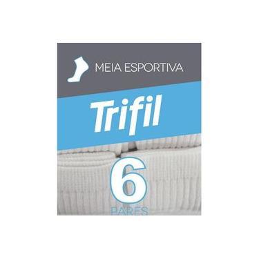 Meia Esportiva Cano Médio Trifil Ref.8720 - Kit Com 12