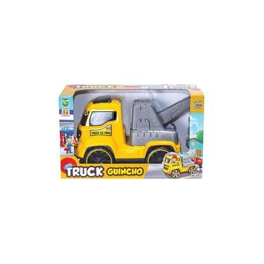 Imagem de Carrinho Brinquedo Infantil Truck Guincho Amarelo Bs Toys