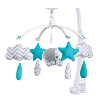 Móbile para berço musical e giratório Elefantinho Tiffany
