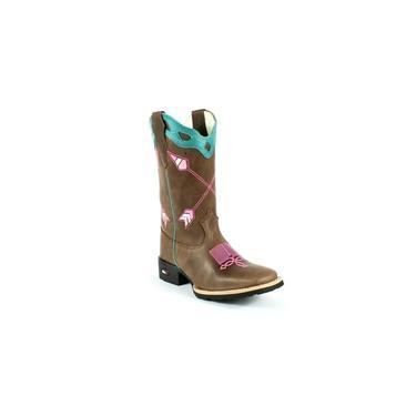 Bota Mr West Boots Texana Feminina Fossil Tabaco Turquesa