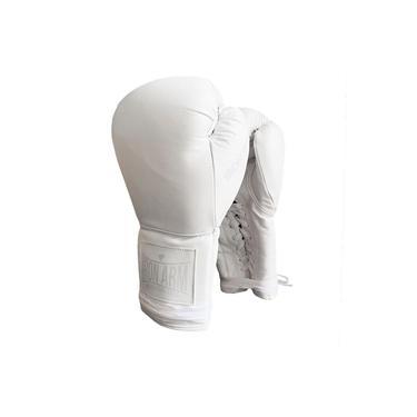 Luva De Boxe Ironarm Pro Ice Couro Legítimo 16 Oz Cadarço