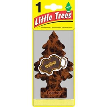Aromatizante Little Trees várias opções Cheirinho para carro (Leather Couro)
