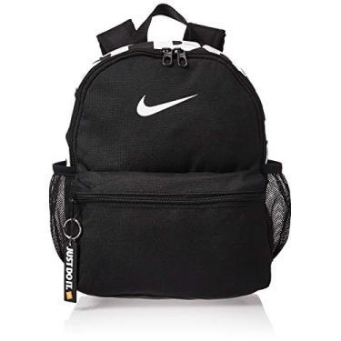 """Imagem de Nike Mochila """"Just Do It"""" da Brasilia (mini), preta/(branca brilhante), Diversos"""