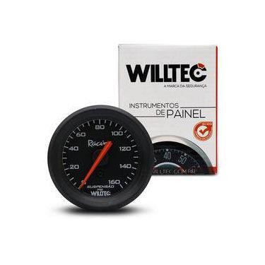 Imagem de Manômetro Analógico Para Suspensão A Ar 160psi 52mm Universal Preto Willtec
