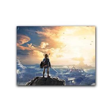 Placa Decorativa MDF Ambientes 20 cm x 30 cm - The Legend of Zelda: Breath of the Wild Nintendo (BD12)