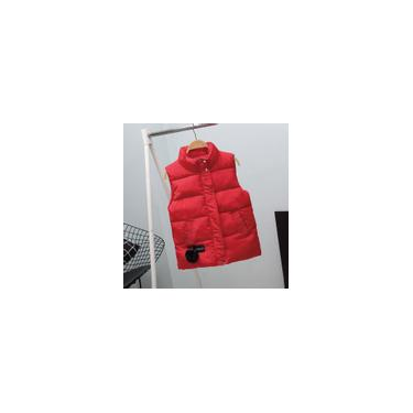 RainmallMulheres Vest Moda Inverno slida Vest Curto Silm Cotton Baixo Colete