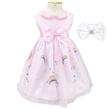 Imagem de Vestido Infantil Chuva de Amor Com Tiara G - 3